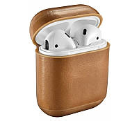 Кожаный чехол для AirPods Vintage Leather Case Light Brown, КОД: 370924