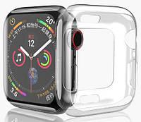 Силиконовый чехол прозрачный HOCO для Apple Watch 44mm, КОД: 382585