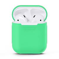 Чехол для наушников Grand для Apple AirPods silicone case Mint Green 7058, КОД: 293014
