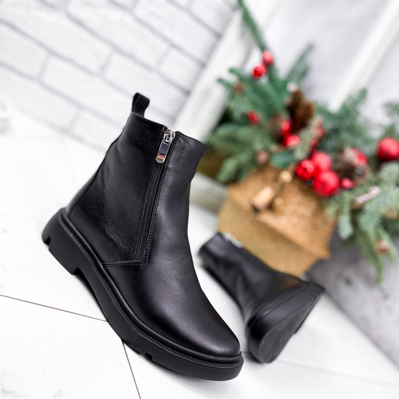 Ботинки женские Jan черные Зима 2717