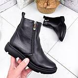 Ботинки женские Jan черные Зима 2717, фото 3