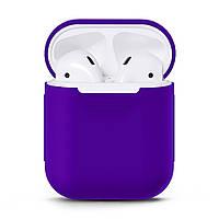 Чехол для наушников Grand для Apple AirPods silicone case Purple 7059, КОД: 293009