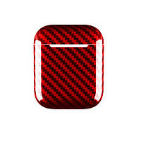 Чехол Grand для AirPods Case Apple Carbon Fiber Case Red AL5226, КОД: 1850152
