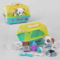 Акция! Собака T 802-3 (24) с набором для ухода, в чемодане [Товар продаётся по акционной цене!]
