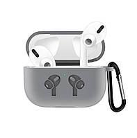 Чехол Grand для наушников Apple AirPods Pro Silicone Case Grey AL4403, КОД: 1389748