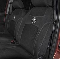 Чехлы на сиденья автомобиля DATSUN on-DO 2014- задняя спинка закрытый тыл; цельная; 5 подголовников., фото 2