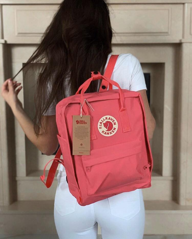 Молодежный рюкзак сумка Fjallraven Kanken classic 16 канкен коралловый женский, подростковый, для девочки