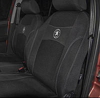 Чехлы на сиденья автомобиля DAEWOO LANOS sedan (КРАСНЫЙ) 1997- задняя спинка 1/3 2/3; 4 подголовника., фото 2