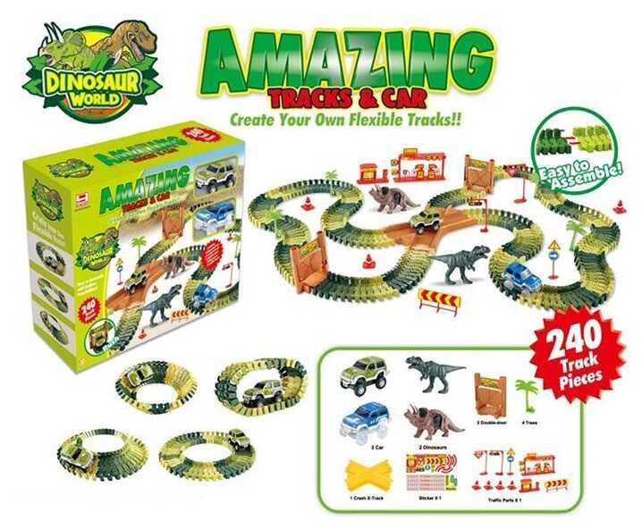 Акция! Детский Гоночный Трек FYD 170215 A (12) 240 деталей, в коробке [Товар продаётся по акционной цене!]