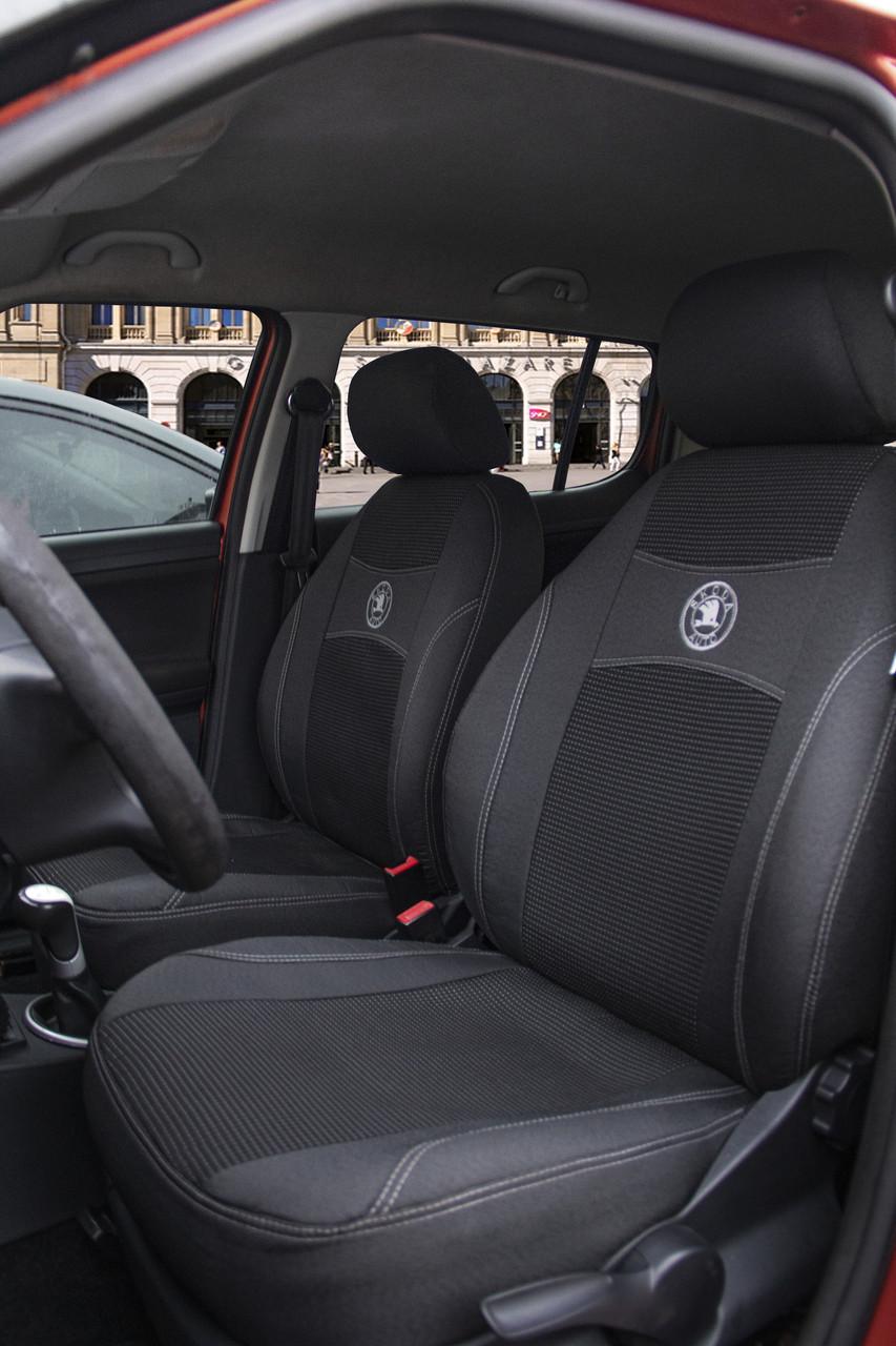 Чехлы на сиденья автомобиля SKODA FABIA Mk1 раздельная 1999-2007 задняя спинка и сидение 2/3 1/3; 4