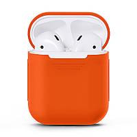 Чехол для наушников Grand для Apple AirPods silicone case Orange 5752, КОД: 293016