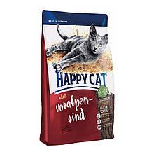 Корм сухой Happy Cat 300 грамм Supreme Adult Voralpen Rind для взрослых котов с альпийской говяди, КОД: