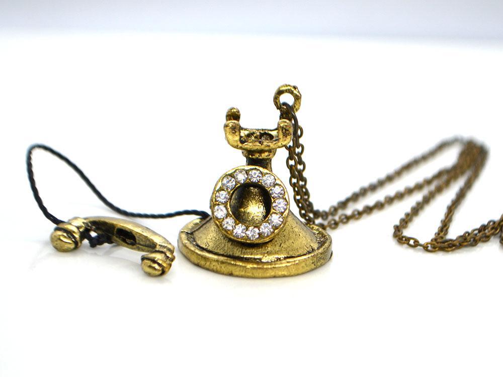 Кулон Телефон, бронза