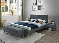 Двуспальная кровать Signal Azurro 160X200 Серый AZURRO160SZ, КОД: 1638071