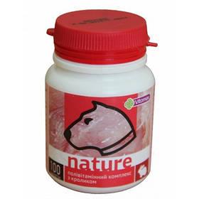 Полівітамінний комплекс Nature для собак з кроликом, 100 таб.