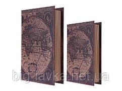 Книга схованку Карта світу S 21 см х 13,5 см х 3,5 см