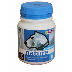 Полівітамінний комплекс Nature з молоком для цуценят, 100 таб.