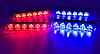 Светодиодный стробоскоп в радиаторную  решетку, полицейская мигалка (красно-синие, пульт ДУ, 6LED 4шт.), фото 4