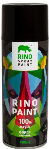 Универсальная акриловая аэрозольная краска Rino Paint (Черная матовая RP-4)