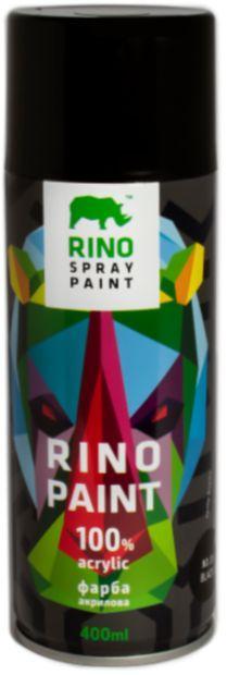 Универсальная акриловая аэрозольная эмаль Rino Paint (Черная RP-39)