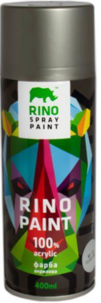 Универсальная акриловая аэрозольная эмаль Rino Paint (Серое серебро RP-125)