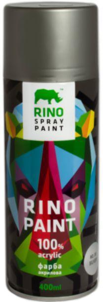 Універсальна акрилова аерозольна емаль Rino Paint металік (Срібло RP-36)