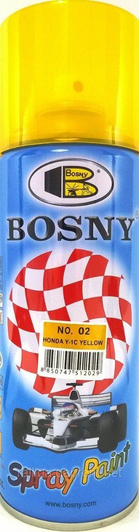 Лак тонировочный Bosny Spray Paint (Желтый 02), 400 мл