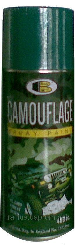 Аэрозольная камуфляжная краска Bosny Camouflage (Зеленый лес C0003)