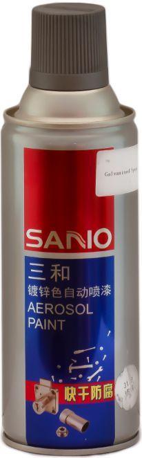 Эмаль аэрозольная для стальных и оцинкованных поверхностей SANVO (Серебро 317B)