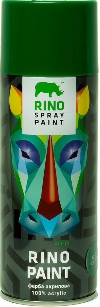 Универсальная акриловая краска в баллончиках Rino Paint (Свежая-зелень 13)