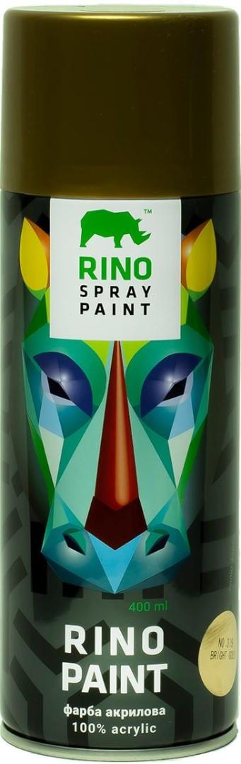 Універсальна акрилова аерозольна емаль Rino Paint Хром (Золото RP-319)