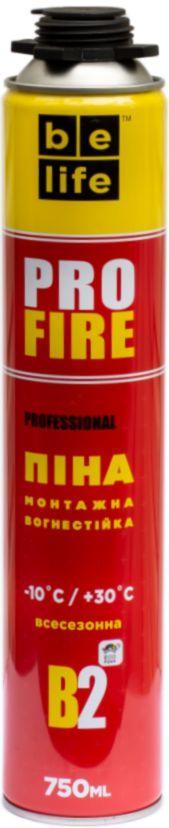 Огнестойкая монтажная пена BeLife Pro-FR50 (PROFIRE)
