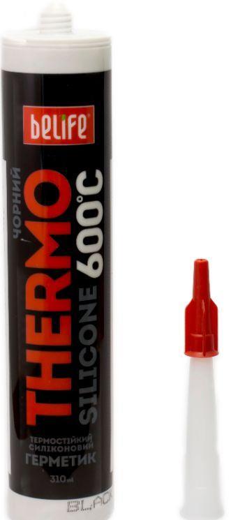 Термостойкий силиконовый герметик (Черный ST-319), 310мл