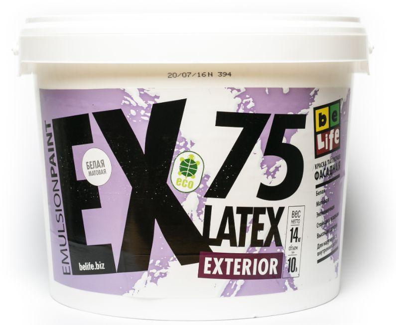 Фасадна дисперсійна фарба Latex Exterior EX75, 2,5 л