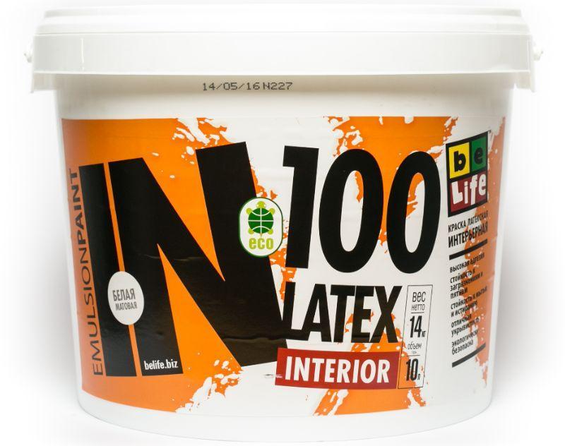 Латексная матовая краска Latex Interior IN100, 2,5л