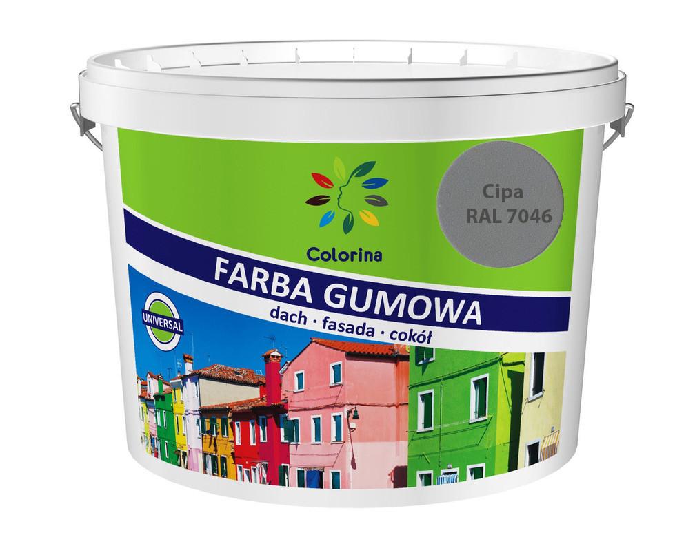 """Краска резиновая для крыш """"Colorina"""" 1,2 кг. (RAL 7046 серая)"""