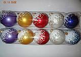 """Игрушка елочная """"Шар цветной Присыпка"""" (диаметр 8 см, упаковка 5 шт), фото 2"""