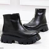Современные трендовые черные женские зимние ботинки гриндерсы 36-23,см, фото 4