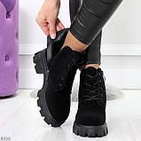 Черные женские ботинки из натуральной замши классического дизайна, фото 4