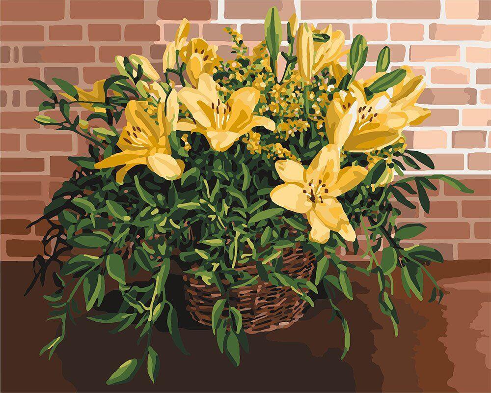 KH3067 Картина-раскраска Изысканные лилии, Без коробки