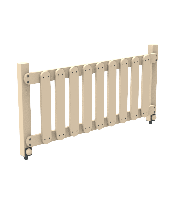 Деревянная секция Забор Garden-Go для ограждения детской игровой площадки на даче, в детском саду 105х8х50 см