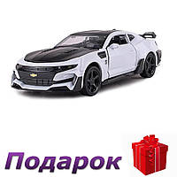 Модель гоночного автомобиля Chevrolet Camaro 1:32 металлическая  Белый, фото 1