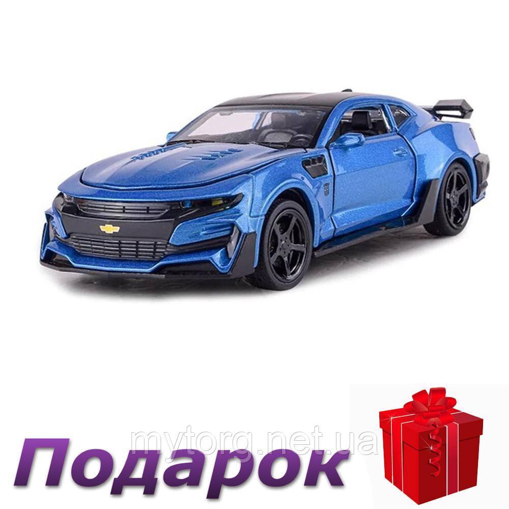 Модель гоночного автомобиля Chevrolet Camaro 1:32 металлическая  Синий