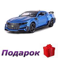 Модель гоночного автомобиля Chevrolet Camaro 1:32 металлическая  Синий, фото 1