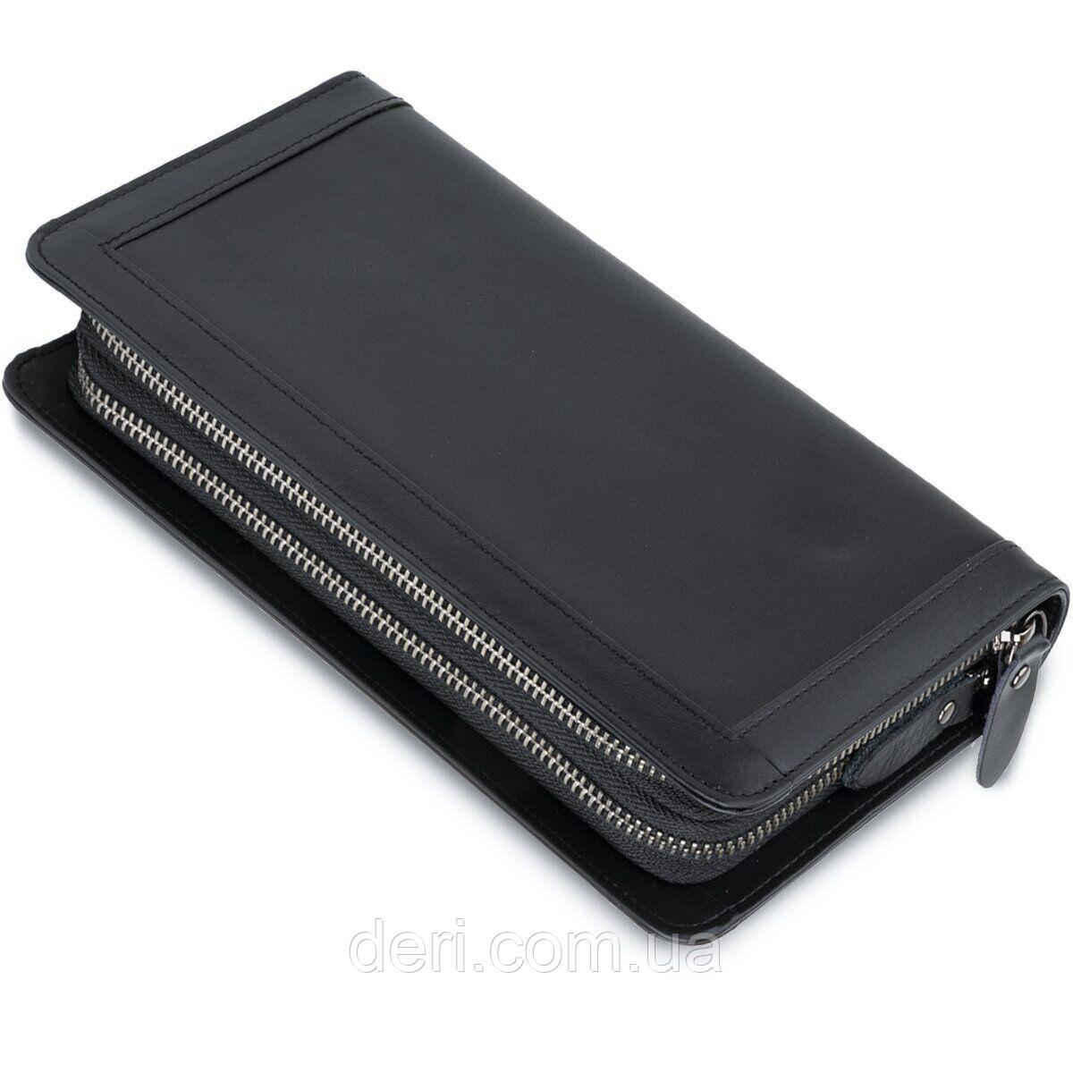 Мужской клатч-барсетка с ремешком на руку Vintage 14657 Черный, Черный