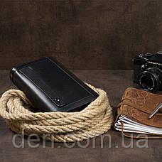 Мужской клатч-барсетка с ремешком на руку Vintage 14657 Черный, Черный, фото 3