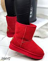 Красные женские  угги, фото 1