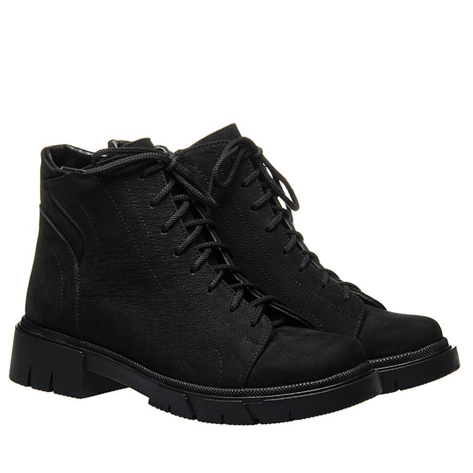 Ботинки La Rose 2333 36(23,4см) Черный нубук ДЕМИСЕЗОННЫЕ