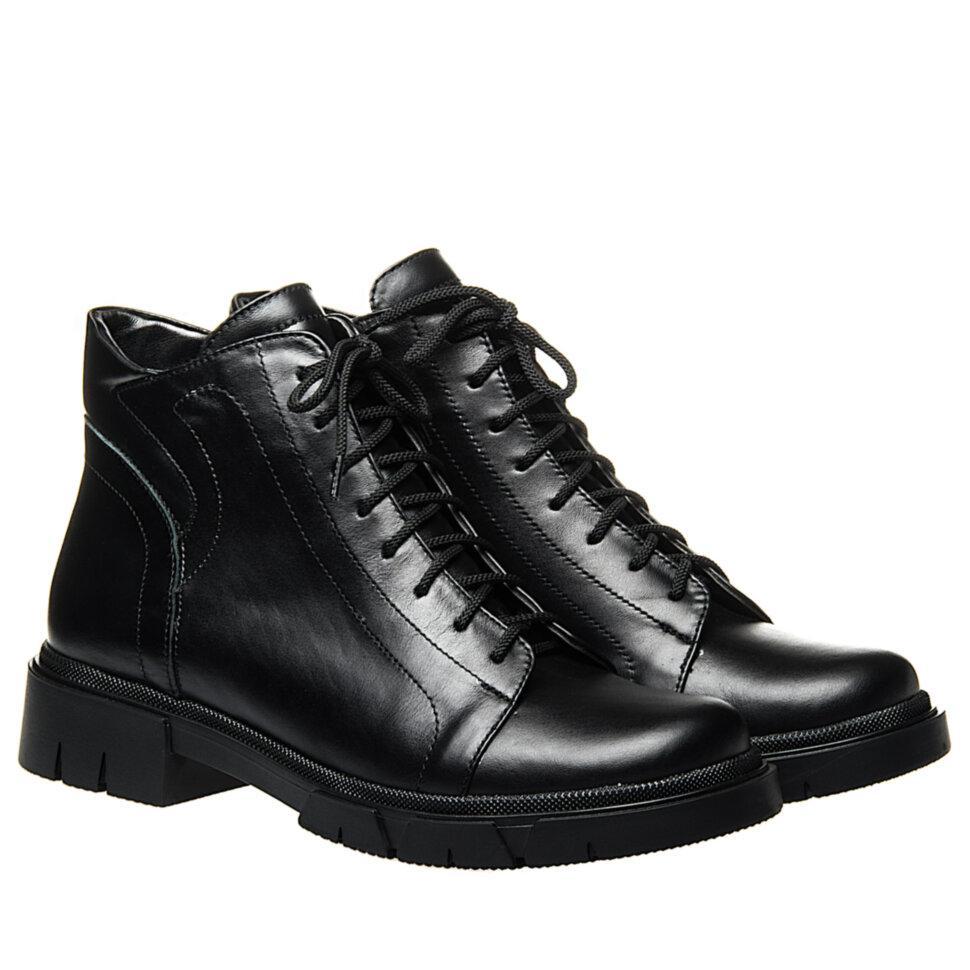 Ботинки La Rose 2333 36(23,4см) Черная кожа ДЕМИСЕЗОННЫЕ