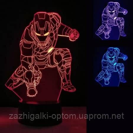 3D Светильник Железный человек 13-4